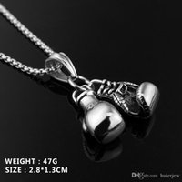 Pretty Jewelry Mini Boxing Glove Energy Sport Flighting Fitness Jewelry Mens Gold Chains for Men Necklaces
