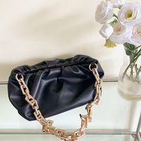 HBP Messenger Bag Bolsa bolsa Novo designer saco de alta qualidade textura moda moda bolsa de ombro grossa cadeia plissada