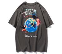 Новый модный бренд бегущий периферийной футболкой с коротким рукавом мужские и женские влюбленные напечатанные мужская футболка Tee Backing