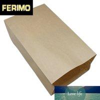 30pcs / Lot Kahverengi Açık Üst Kraft Kağıt Yağ Geçirmez Çerezler Fırında Foods için Yukarı Depolama Paketi Çanta Meslekler Kağıt Torbalar Ambalaj Standı