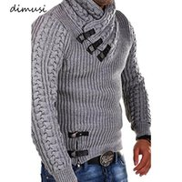 DIMUSI Autumn Winter Men's Sweaters Fashion Warm Knitted Morality Turtleneck Sweatshirt Male Slim Streetwear Pullovers Clothing