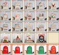 Sacs-cadeaux de Noël Santa Sacs Crowstring Sac de bonbons à thème Christmas-thème Designs Designs en vrac En stock YFA2679