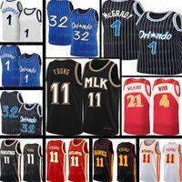 Retro Tracy Penny 1 Hadaway McGrady 32 Jerseys Trae 11 Young 2021 New City Jonathan 1 Isaac Spud 4 Webb 21 Jerseys de baloncesto