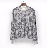20FW button badge fashion hoodie for men sweatshirt TOPSTONE long sleeve grey pullover streetwear sweater winter clothing-