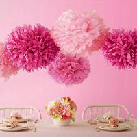 Dekorative Blumen Kränze 40cm Pom Tissue Paper Poms Blume Bälle Party Hochzeit Home Geburtstag Dekorationen