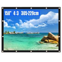 Projector Screen 150 Inch 4: 3 HD Foldable Anti- Crease Portab...