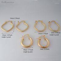 Минимальный заказ 10 $ может смешать дизайн / скраб поверхность три стиля круглые квадратные обруча серьги - желтый золотой цвет обруч диаметр около 20 мм1