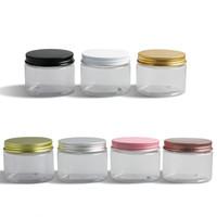 20 x 150g 5 Unzen Klar leere kosmetische Behälter mit Aluminiumdeckeln Probencremedosen Verpackung