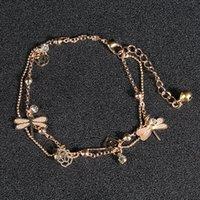 Gold Bohemian Ank Beach Foot Bijoux Bijoux Chaîne Papillon Libellule Libellule Anklets pour Femmes Sandales Barefoot Brefle Bracelet Pieds 103 L2