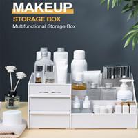 Makyaj Çekmece Organizer Masaüstü Kozmetik Saklama Kutusu Büyük Kapasiteli Makyaj Konteyner Takı Oje Sundries Saklama Kutusu DHL
