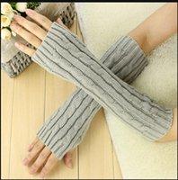 Moda Kız Bayanlar Uzun Parmaksız Eldiven Kış Sıcak Kol Örme Yün Mitten Eldiven PS0460