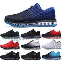 Max 2017 2021 DROP Livraison 2017 Hommes Femmes Running Shoes Sneakers Noir Blanc Haute Qualité Sport Entraîneurs Sports Chaussures Sports Taille de la Tendance 5.5-11