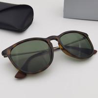 Gafas de sol polarizadas redondas Mujeres Hombres Gafas de sol Moda Eyeware UV400 Protección Lentes de Soleil Incluye accesorios