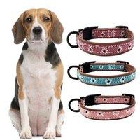 Collares de perro Correa Cuello de cuero retro PET para con anillo en forma D Correa ajustable Correa de cuello para caminar Accesorios de moda