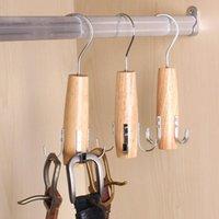 Titular Estantes de madera Armario Cinturón Sirances Suministros Suministros Armarios Organizador Colgante Corbatas Metal Ganchos Paño Multi Función Bufandas