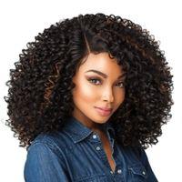 14-дюймовые короткие волосы извращенные вьющиеся парик синтетические кружева фронт парик афроамериканцев для черных женщин золотая красота