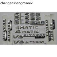 3d chrom glänzend silber koffer koffer hinternummer Buchstaben wort wortge emblem emblem aufkleber für mercedes benz gl63 g gl65 AMG 4matic