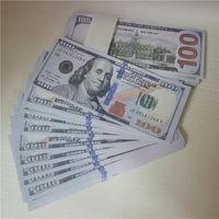 Conjunto de dinero de propósitos educativos Impresión completa de 2 caras de letras de 20 50 100 dólares para monopolio, foto, bromas