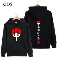 Japanische Anime Naruto um Mit Kapuze Sweatshirt Herbst Langarm Uchiha Sasuke Anime Kleidung Übergröße Kinderjacke Coole Hoodies X1214
