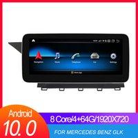 """4GB RAM 10.25 """"IPS Android 10 GPS Navegação para 2008-2015 Mercedes Benz Glk Class X204 NTG 4.5 Display de traço estéreo"""