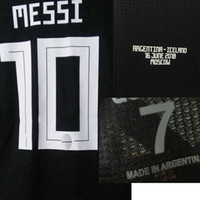 2018 Match Worn Player Issue Messi Cusomize Any Name Any Number Soccer Nameset Patch Printing
