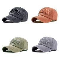 Ozyc areia lavada 100% algodão chapéu de beisebol para mulheres homens vintage pai chapéu de novo york bordado letra ao ar livre Caps Q1223