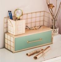 rack de maquiagem gavetas de armazenamento de ferro parede de suspensão da arte Phoenix caixa de armazenamento de árvore de madeira de mesa rack de armário atacado
