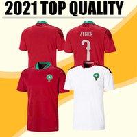 2020 Jerseys de football européen Maroc 20 21 Maillot de Foot Ziyech Boutaib Camiseta de futbol Boussoufa el Ahmadi Chemise de football