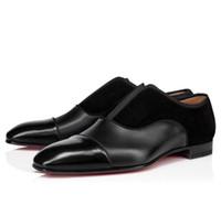 Elegantes Gentleman Alpha Male Oxfords Walking für Kleid, Hochzeit, Party Mode für Männer roten unteren Loafers Schuhe EU35-47, heißen Verkauf