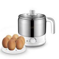 Poêles électriques Multi-fonctionnel Cuisson Pot Cuisson Bouillres 1.2L Dortoir Étudiant Mini Chaudière à œufs de voyage portable