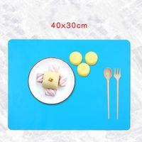 Silikon-Quadrat-Schneidebrett Haushaltstisch Ofen Backmatte Hochtemperaturbeständigkeit 40x30cm Knetteigkissen Heißer Verkauf 3 6cs F2