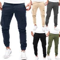 Cargo Pants Modis autunno carico degli uomini pantaloni militari multi-tasca dei pantaloni di cotone casuale Harem solido jogging uomini scarni più il formato