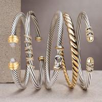 GODKI tendance luxe superposable Bangle Cuff pour les femmes de mariage pleine Cubic Zircon Cristal CZ Dubaï Argent Couleur Bracelet 2020 Party