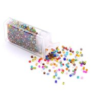 1000pcs / lote 2 mm de riego Color de plata Color de vidrio Cuentas de semillas de semillas checas Collar de pulsera de bricolaje para joyería haciendo Jefe Jlljei