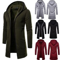 Erkek Yeni Stil Sonbahar Kış Coat Sıcak Siper Yeni Moda Uzun Palto Rahat Katı Dış Giyim Hırka11
