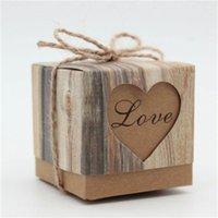 Retro Baumstreifen Aushöhlen Zucker Box Hochzeit Feiern Candy Box Party Supply Liebe Herz Favor Geschenkbox 0 23wc H1
