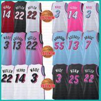 2021 Nuevo Dwayne Dwyane 3 Wade Basketball Jersey Jimmy 22 Butler Mens Tyler 14 Herro Bam 13 Adebayo Goran 7 Dragic Kendrick 25 Nunn Naranja