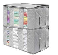 Caja de almacenamiento plegable no tejida Organizador portátil Organizador Tidy Fouch Maleta Caja de almacenamiento de casa Caja de gran capacidad Casa Accesorios DXP66