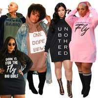 Diseñadores Ropa Vestidos Mujeres Suéter Letter Printing Fashion Casual Plus Tamaño Mujer Ropa Mangas largas 2021 NUEVO XL-5XL