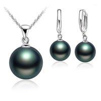 Серьги Ожерелье высочайшее качество Настоящие пресноводные жемчужные украшения набор для ювелирных изделий женщин, натуральные наборы 925 стерлингового серебра серебро девушки подарок на день рождения1
