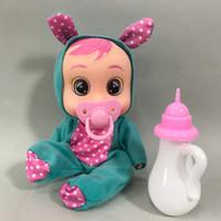 3D REBORD BEBE Lalki 8 cali niespodzianka łzawienie baby boy dziewczyna zabawki śliczne zwierzęce suknia lalka karmienia zabawka prezent urodzinowy dla dzieci