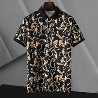 Мужская рубашка Polo Printing Вышивка Топ футболки для Италии Мода Polos Рубашка Мужчины Высокая улица Хломатные Теги Топы футболки