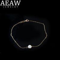 AEAW Festes weißes Gold 14K 6.5mm 1.0ct Lab Grown Moissanite Diamant-Armband-Test positiv für Frauen modische Art Fine Jewelry