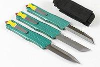 A10 CNC Jedi 7 CR17MOV Алюминиевый двойной Двойной Двойной Актериал Тактическая самооборона Складная Эдк Нож для кемпинга Ножи охотничьи ножи Карманный инструмент