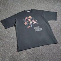 특대 18FW 스피드 런터 티셔츠 남성 여성 1 : 1 고품질 탑 티 여름 스타일 T 셔츠 Y200409 V6ol #