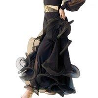 현대 댄스 볼룸 댄스 생생한 물고기 스커트 스퀘어 힙합 skirt1