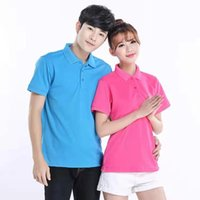 Pure cotton lapel polo shirts Men' s Polos custom work c...
