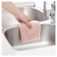 3colors absorbente microfibra toalla de cocina limpieza paño colgable coral plato plato plato paño herramientas de trapo gadgets tela hogar h bbydgj