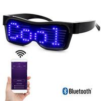 Bluetooth APP Control LED Glasses per lampeggiante - Messaggi di visualizzazione, animazione, DJ Holiday Party Birthday Children's Toy Regalo