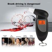 El Arka Işık Dijital Alkol Test Cihazı Nefes Breathalyzer Analizörü LCD Dedektörü Light1 Alkolizm Testi